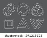 impossibe looped shapes circles ... | Shutterstock .eps vector #291215123