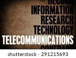 telecommunications core... | Shutterstock . vector #291215693