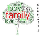 family info text graphics and... | Shutterstock .eps vector #291220190