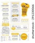 restaurant cafe menu  template... | Shutterstock .eps vector #291230066