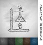 bunsen burner icon. hand drawn... | Shutterstock .eps vector #291234980