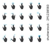 touch screen hand gesture icon... | Shutterstock .eps vector #291238583