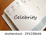 business notepad on wooden... | Shutterstock . vector #291238646