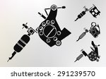 grunge tattoo machines prints... | Shutterstock .eps vector #291239570