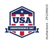 independence day badge  usa | Shutterstock .eps vector #291240614