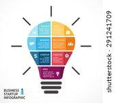 vector light bulb infographic.... | Shutterstock .eps vector #291241709