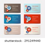 set of colorful  business cards ... | Shutterstock .eps vector #291249440