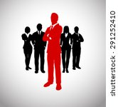 leader of a team of executives. ... | Shutterstock .eps vector #291252410