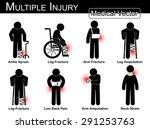 multiple injury set   ankle... | Shutterstock .eps vector #291253763
