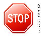 stop vector sign | Shutterstock .eps vector #291271760