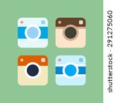 set of photo camera icons.... | Shutterstock .eps vector #291275060