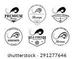 vector shrimps design elements  ...   Shutterstock .eps vector #291277646