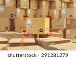 warehouse storage  packages... | Shutterstock . vector #291281279