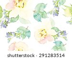 watercolor flowers. seamless...