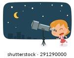 kids activity. flat character... | Shutterstock .eps vector #291290000