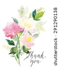 watercolor greeting card... | Shutterstock .eps vector #291290138