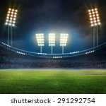 lights at night and stadium | Shutterstock . vector #291292754