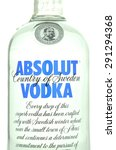 Small photo of KWIDZYN, POLAND - APRIL 9, 2015: Absolut vodka isolated on white background. Absolut vodka has been produced in southern Sweden since 1879. Absolut was bought by French group Pernod Ricard in 2008.