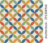 seamless vintage pattern.... | Shutterstock . vector #291308966