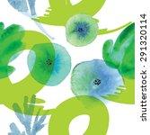 modern floral seamless pattern...   Shutterstock .eps vector #291320114