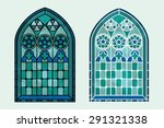 A Gothic Style Stained Glass...