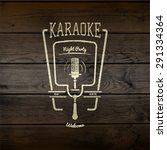 karaoke party badges logos and... | Shutterstock .eps vector #291334364