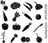 vegetable  icon set  | Shutterstock . vector #291335258