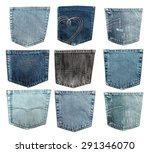 Pocket  Jeans  Denim.