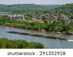 A Coal Barge On The Ohio River...