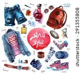 men set of trendy look....   Shutterstock .eps vector #291355808