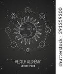 vector geometric alchemy symbol ... | Shutterstock .eps vector #291359300