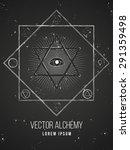 vector geometric alchemy symbol ... | Shutterstock .eps vector #291359498