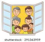 family in the window | Shutterstock . vector #291363959