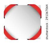 vector corner ribbon red | Shutterstock .eps vector #291367064