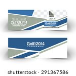 golf cup header   banner design | Shutterstock .eps vector #291367586
