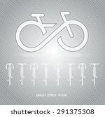 infinity bicycle vector on... | Shutterstock .eps vector #291375308