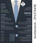 cool resume cv curriculum vitae ...   Shutterstock .eps vector #291376658