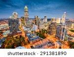 charlotte  north carolina  usa... | Shutterstock . vector #291381890