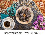 food on decorated table   Shutterstock . vector #291387023