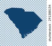 map of south carolina | Shutterstock .eps vector #291388154