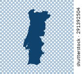 map of portugal | Shutterstock .eps vector #291392504