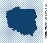 map of poland | Shutterstock .eps vector #291392510