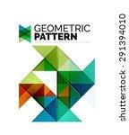 geometric triangle mosaic... | Shutterstock .eps vector #291394010