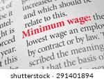 definition of the word minimum... | Shutterstock . vector #291401894