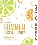 summer cocktail party... | Shutterstock .eps vector #291414326