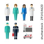 hospital doctor surgeons nurse... | Shutterstock .eps vector #291414620