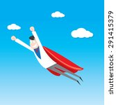 business man flying. vector...   Shutterstock .eps vector #291415379