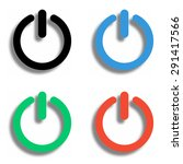 turn off icon with shadow  ...   Shutterstock .eps vector #291417566