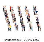 standing together united... | Shutterstock . vector #291421259
