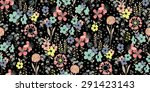 Seamless Pattern Sketch Flowers ...